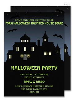 Halloween House Invitations