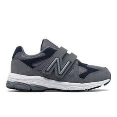 Hook and Loop 888 Kids' Pre-School Running Shoes - Grey/Navy (KV888SNP)