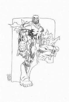 Bishop by Chris Bachalo (via X-Men Character Design: BISHOP Comic Art For Sale By Artist Chris Bachalo at Romitaman.com)
