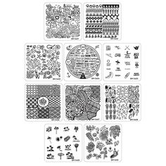 Bundle Monster 10pc Nail Art Manicure Stamping Plates - Hangloose Collection * More info could be found at the image url.