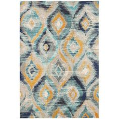 Holden Rug in Blue & Yellow