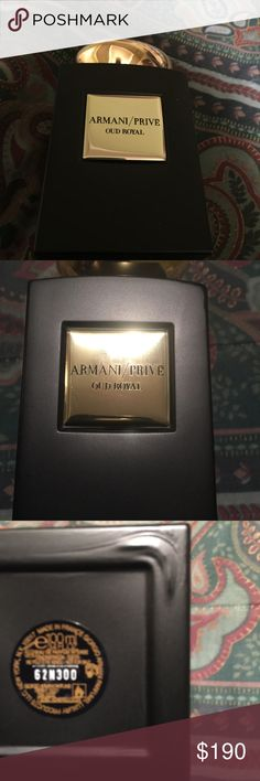 Armani/Prive by Giorgio Armani 3.4 oz 100ml Oud Royal scent,  Intense EDP. Very sexy masculine woody notes!!!! Never used without box Giorgio Armani Accessories