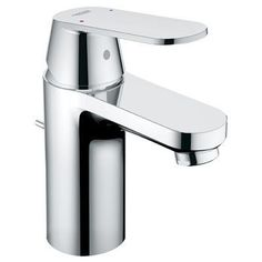 View the Grohe 32 875 Eurosmart Cosmopolitan Single Hole Bathroom Faucet with SilkMove and WaterCare Technologies - Free Metal Pop-Up Drain Assembly with purchase at FaucetDirect.com.