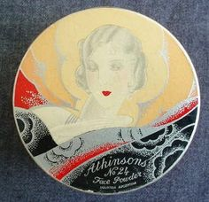 Art Deco powder compact by Atkinsons (past Decogirl stock)