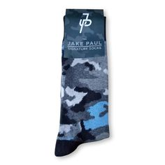 Jake Paul sweaters, shirts, and more. The only place to get official Jake Paul apparel. Team 10 Merch, Jake Paul Merch, Blue Camo, Camouflage, Socks, Spring Wedding, Hosiery, Logo, Dark
