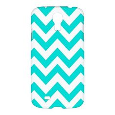 Cool Tiffany Blue Chevron Pattern Samsung Galaxy S4 S 4 Hardshell Case Cover - PDA Accessories