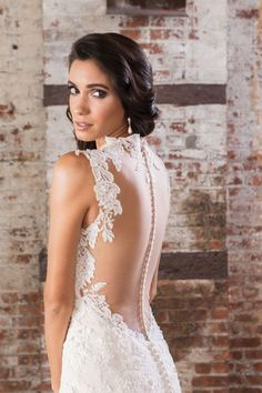 87c6aeaa386 Style 9861  Sequin Beaded Lace Fit and Flare Gown with Open Back