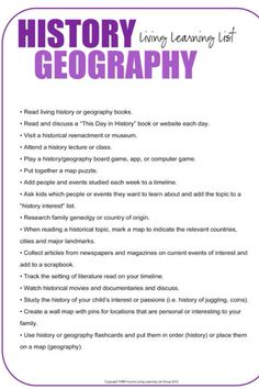 Fun history and geography lessons for kids.