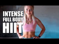 (255) 20 MIN CROSSFIT® HIIT WORKOUT | AT HOME OR GYM WITH DUMBBELLS | growingannanas - YouTube 20 Min Hiit Workout, Full Body Hiit Workout, Belly Fat Workout, Intense Workout, Butt Workout, Workout Videos, Fun Workouts, At Home Workouts, Cardio