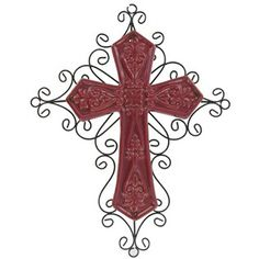 Red Ceramic and Metal Cross | Shop Hobby Lobby