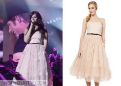 Nashville: Season 3 Episode 8 Layla's Pink Strapless Gown