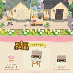 Come here to post about all your Animal Crossing New Horizons designs! This includes discussing ideas with people, post pictures of your custom or. Animal Crossing 3ds, Animal Crossing Villagers, Animal Crossing Qr Codes Clothes, Deck Patterns, Floor Patterns, Motif Acnl, Ac New Leaf, Motifs Animal, Path Design