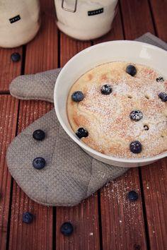 Zum Mitnehmen bitte: Sonntagsfrühstück Nr. 6: Ofenpfannkuchen mit Blaubeeren