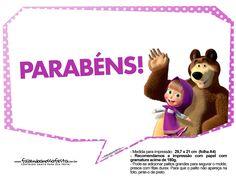 Uau! Veja o que temos para Plaquinhas divertidas Masha e o Urso 7