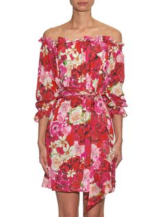 Fru Fru floral-print silk dress | Isolda | MATCHESFASHION.COM