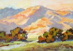 COLORFUL CALIFORNIA IMPRESSIONIST LANDSCAPE by TOM BROWN, painting by artist Tom Brown
