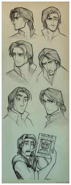Flynn Rider Sketches by *uniqueLegend on deviantART I love this style