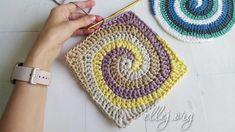 Квадрат или круг 4 цвета по спирали Crochet Blocks, Short Tops, Crochet Fashion, Blanket, Crochet Tutorials, Crochet Batwing Tops, Dots, Crop Tops, Crochet Shopkins Patterns