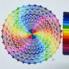 That's the way we like it: colorful!! Thanks to talented @notjustmandalas for that gorgeous mandala created with our triplus fineliners! You are creative, too? Let us know by tagging #mySTAEDTLER! #STAEDTLER #mandalalove #zentangle #triplusfineliner #colorful #colourful #instaart #rainbow #instadraw #livecolorfully #zendala #mandala #drawing