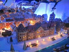 Battle between Bergen and New York over which has world's largest gingerbread village   Daily Mail Online