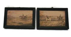 Pair of Victorian Prints  English Hunting by WhiteHartAntiques