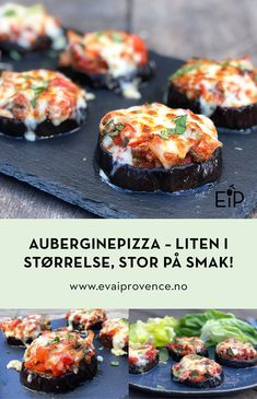 AUBERGINEPIZZA – LITEN I STØRRELSE, STOR PÅ SMAK! (LOW-CARB) Low Carb, Moussaka, Bon Appetit, Mozzarella, Baked Potato, Dip, Nom Nom, Food And Drink, Potatoes