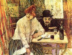 The Last Crumbs (In The Restaurant La Mie), 1891 by Henri de Toulouse-Lautrec. Post-Impressionism. genre painting