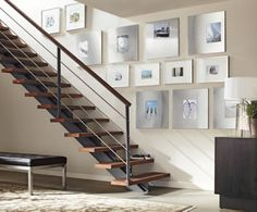 love these room and board stainless asymmetrical gallery frames