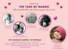 Sweet Moments - Birthday Party Invitations in Tea Rose | simplyput by Ashley Woodman