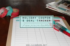 Keep track of all those great deals this holiday season with this Holiday Coupon and Deal Tracker FREE PRINTABLE