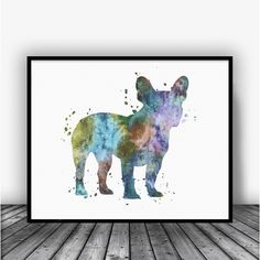 French Bulldog Color Mix Art Print Poster by Carma Zoe From $10.00