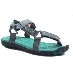 Sparx Grey Green Silver Floater Sandals