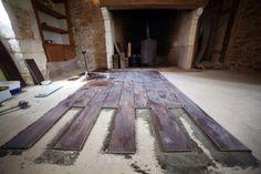 Carrelage - Effet bois - Dordogne - Maison en pierre