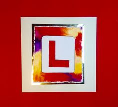 L-plate greetings card on a red and gold background from www.dianew.co.uk