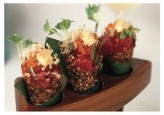 Spicy Tuna Tartare In Sesame Miso Cones.