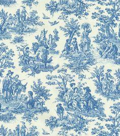 Upholstery Fabric-Waverly Charmed Life Cornflower