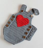 Ravelry: Crochet Baby Romper - Baby Joy pattern by Croby Patterns