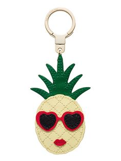 pineapple keychain by kate spade new york Pineapple Keychain, Tropical Party, Key Fobs, Couture, Cute Jewelry, Diy Fashion, Applique, Kate Spade, Gifts