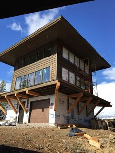 Building A House Quotes Porches Printing Education Pictures Referral: 1608385467 Porches, Lookout Tower, Montana Homes, Tower House, Building Companies, Cottage, Cabins In The Woods, The Ranch, Custom Homes