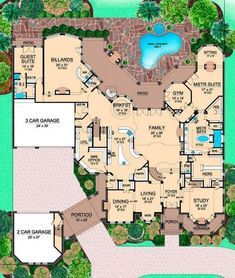 Floor plan - I love this floor plan!!! Tons of his and her space. 3 car garage for him, 2 car garage for me. :)