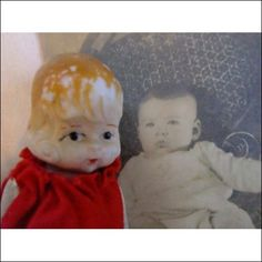 Paranormal poltergeist activie Haunted vintage Doll with photo of spirit within
