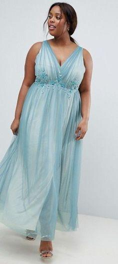 Plus Size Tulle Maxi Dress #plussize