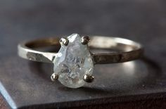 Image of Prong Set Diamond Slice RIng in 14kt Gold - as seen in ELLE magazine + Refinery 29