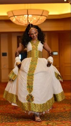 This traditional Habesha dress is perfect for your traditional Ethiopian wedding, Eritrean Wedding or personal collection of beautiful African dresses.