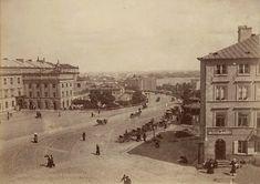 Warszawa – zjazd z Krakowskiego Przedmieścia w stronę Wisły, 1870