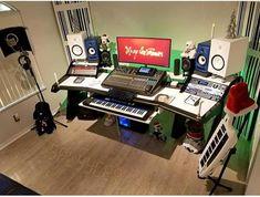 Home Studio Music, Ale, Audio, Hardware, Desk, Good Ideas, Home Music Studios, Home, Desktop