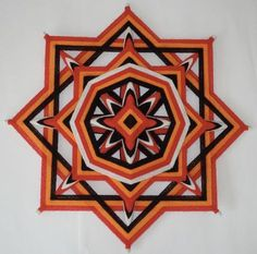 Donation Native Healing Ojo de Dios by HighDesertAlchemy God's Eye Craft, Diy And Crafts, Paper Crafts, Gods Eye, Medicine Wheel, Weaving Projects, String Art, Mandala Art, Diy Art
