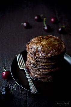 Chocolate Cherry Pancakes