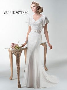 Maggie Sottero Wedding Dresses - Search our photo gallery for pictures of wedding dresses by Maggie Sottero. Find the perfect dress with recent Maggie Sottero photos. Wedding Dresses Photos, Bridal Wedding Dresses, Cheap Wedding Dress, Wedding Dress Styles, Bridesmaid Dresses, Modest Wedding, Ivory Wedding, Wedding Cakes, Wedding Venues