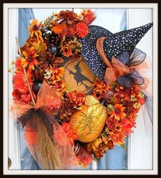 Halloween wreath by Petal Pushers